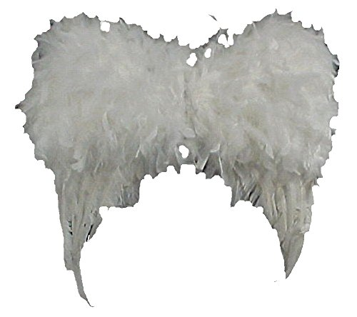 Feathered Angel Wings 16inches 3 Dimensional Lot of 4 Pair Wings & 4 Marabou Halos