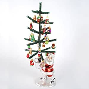 SANTA CLAUS 22 Christmas Ornament Tree NEW