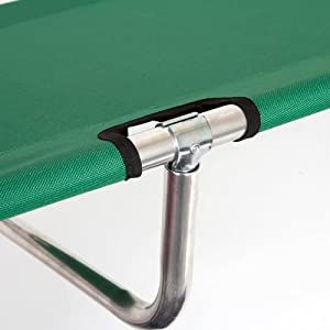 World Outdoor Products Big Bear EASY ROLL UP Anodized Aluminum Frame Camping Cot Featuring 600 D Washable and Mildew Resistant Polyester Fabric with a LED Flashlight