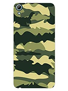 Camouflage - Indian Army - Forest Green - Hard Back Case Cover for HTC Desire 826 - Superior Matte Finish - HD Printed Cases and Covers