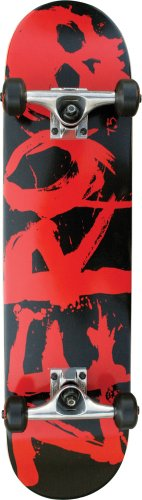 Zero Blood Text Complete Skateboard (7.62-Inch)