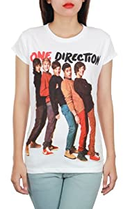 One Direction 1D UK Boy Band White Teen Women Music T-Shirt