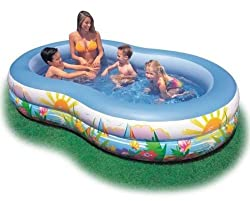 Intex Swim Center Inflatable Paradise Seaside Kids Swimming Pool, Blue