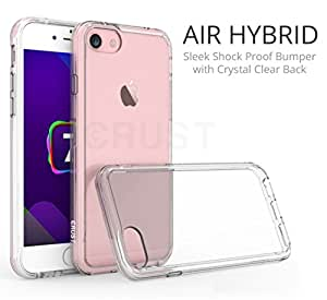 CRUST™ [Air Hybrid] Premium iPhone 7 Clear Back Case Cover, [Shock Absorption Bumper] With [Anti Scratch Crystal Clear Back] For Apple iPhone 7 (4.7 Inch) [Ultra Slim Fit] - Crystal Clear