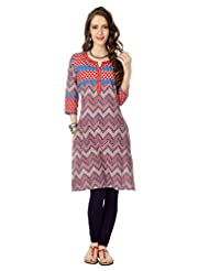Rangmanch By Pantaloons Women's Cotton Straight Kurta - B012HEO2LE