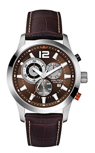 nautica-herren-armbanduhr-xl-analog-quarz-leder-a15548g