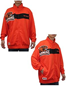 NCAA Oregon State Beavers Mens Zip-Up Track Jacket with Embroidered Logo by NCAA