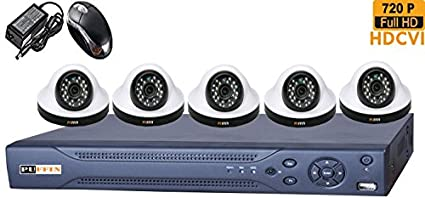 Puffin-8-CH-HDCVI-Dvr-(With-5-HD-720P-Night-Vision-Dome-Cameras)