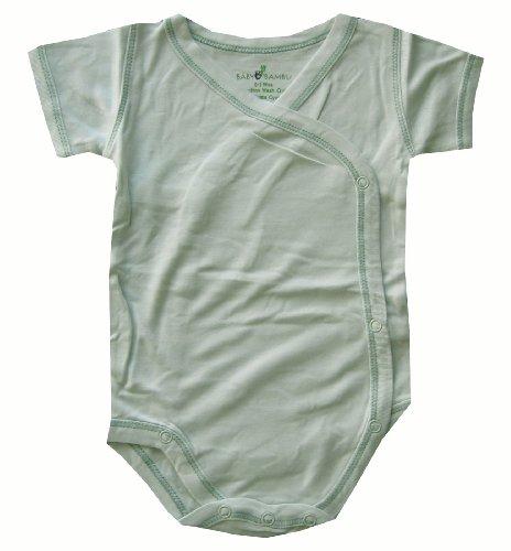 Baby Bambu Short Sleeve Kimono Onesie, Green, 3-6 Months
