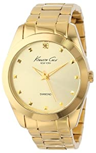 Kenneth Cole New York Women's KC4949 Rock Out Yellow Gold Dial Diamond Dial Bracelet Watch