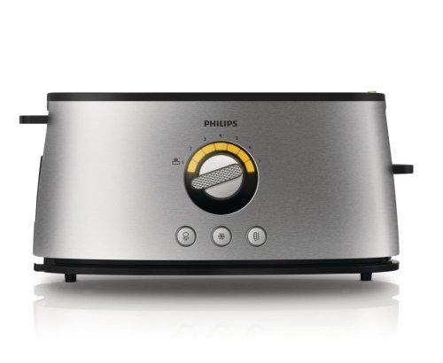 Philips-HD269800-Grille-Pain-Avance-Aluminium-Bross-Fentes-Ajustables