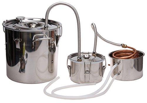 5 Gal Home Brew Distiller,KMM Stainless Moonshine Alcohol Still/Spirits Boiler(Distilled Water Filter)#BW016