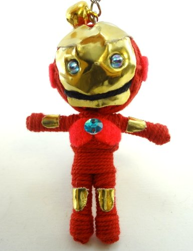 Iron Man String Doll Key Chain Handmade Tony Stark Superhero (Ironman Action Figures 3 Inches compare prices)