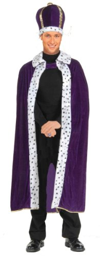 Forum Novelties Men's King Robe and Crown Costume