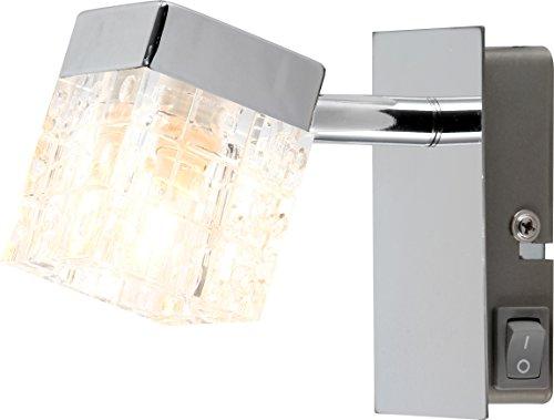 Glas Würfel Decken Leuchte Wand Lampe Hänge Pendel Licht Strahler Spot Globo Baron 56183 Variante