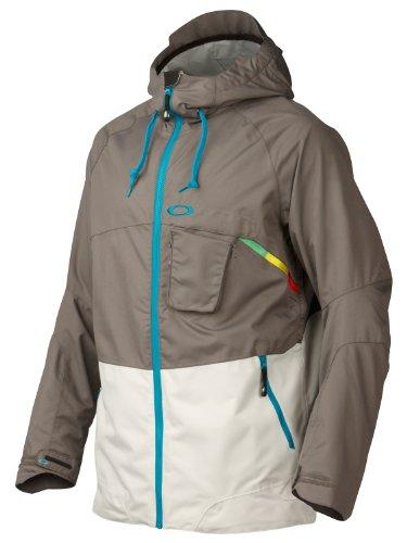 Oakley Stillwell Ski Snowboard Jacket Grigio Scuro Mens Sz L