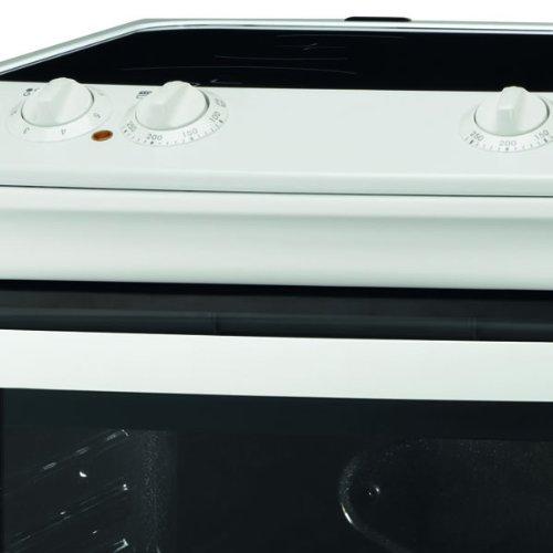 Zanussi ZCV551MWC 550mm Double Electric Cooker Ceramic Hob White
