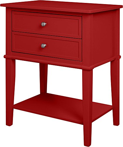 Altra Franklin Accent Table with 2 Drawers, Red
