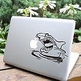 MacBook 対応 アートステッカー Shark - 【並行輸入品】 (11インチ)