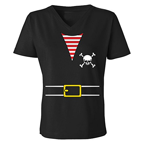 Pirates & Anchors - Pirate Outfit - Women's V-Neck T-Shirt