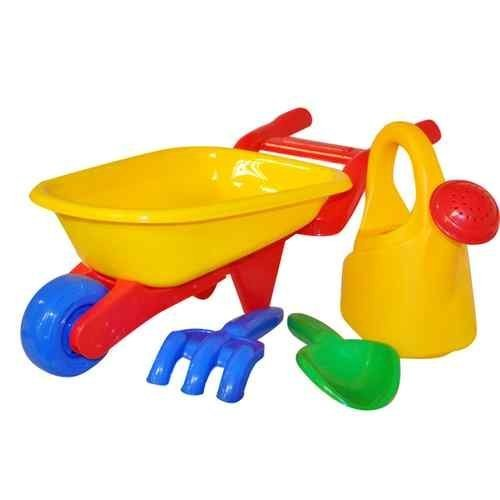 4pc-kids-garden-wheelbarrow-play-set-watering-can-childrens-tools-sandpit-beach-by-kingfisher