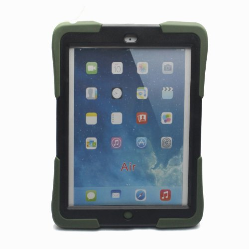 Bolkin Hybrid Armor Series Shockproof Case Cover for Apple Ipad Air (War Green) Picture
