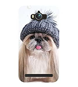 99Sublimation Cute Puppy 3D Hard Polycarbonate Back Case Cover for Asus Zenfone Max ZC550KL :: 2016 :: 6A076IN