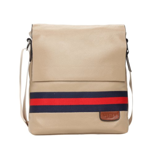 Men's Vintnage 100% Real Leather Vertical Leisure Business Shoulder Bag Ipad Package