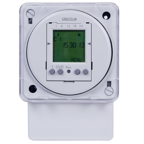 Intermatic Fm1D50A-120 16A, 208/240V, 50/60Hz Electronic 24-Hour/7-Day Timer Module, Surface/Din Rail Mount