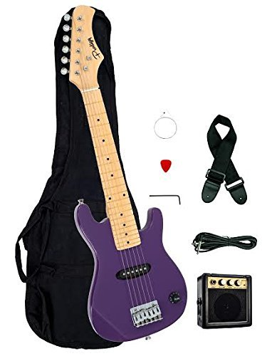 1 2 half size kids purple 30 inch electric guitar and amplifier pack and gig bag strap cable. Black Bedroom Furniture Sets. Home Design Ideas