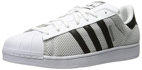 Adidas Originals Men's Superstar Circular Knit Fashion Sneaker, White/Black/White, 9.5 M US
