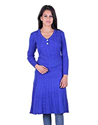 eWools Women's Woolen Shrug (Miss18-405_Blue_X-Large)