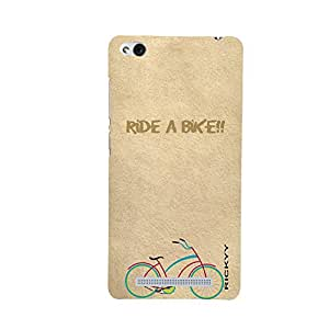 RICKYY _Mi3s_1297 Printed Matte designer Ride a Bike case for Redmi 3S