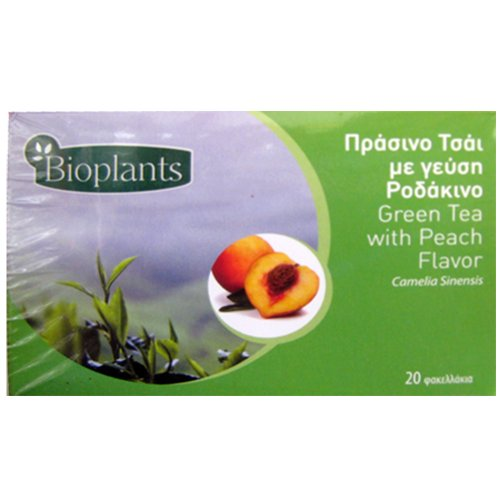 Bioplants Peach Green Tea Sachets 30 g (Pack of 4)