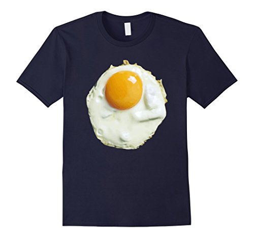 [Men's Fried Egg Funny Costume Halloween T-Shirt - Unisex Small Navy] (Realistic Fried Egg Adult Unisex Costumes)