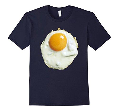 Men's Fried Egg Funny Costume Halloween T-Shirt - Unisex Small Navy ()