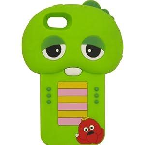 グルマンディーズ iPhone 5 専用 ガチャピン×ムック キャラクター ダイカットジャケット ガチャピン×ムック FT-34A