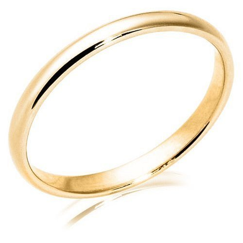 10k Yellow Gold 2mm Traditional Women's Wedding Band