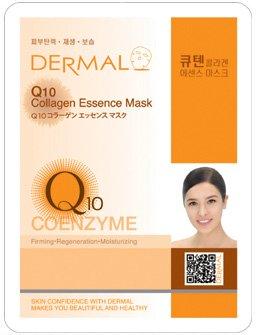 新DERMAL Q10 コラーゲン エッセンスマスク 顔用シートマスクパック