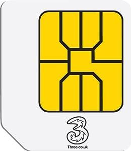 Three Mobile Broadband Ready to Go3GB Preloaded Data MicroSIM for3G Tablets