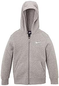 Nike YA76 Sweat  capuche Garon Gris Fonc Chin/Blanc FR : XL (Taille Fabricant : XL)