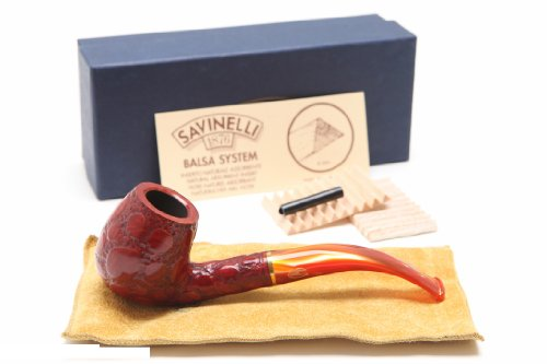 Savinelli Alligator Red 602R Tobacco Pipe