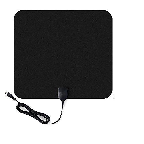 Antenne d'Intérieur HDTV VicTsing Antenne Numérique Amplifiée Super Mince 50 Miles Plage avec 10ft Câble Coaxial de Haute Performance