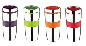 BERGNER Thermobecher - Trinkbecher - Edelstahl/Kunststoff - 380 ml - Isolierbecher - Kaffeebecher - Becher