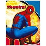 Spider Man Sense Thank-You Notes (8) Party Supplies
