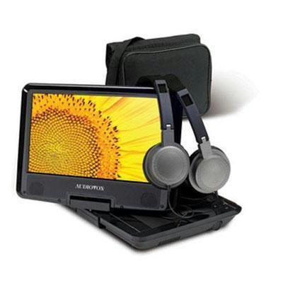 Audiovox Ds9443Tpkbk 9-Inch Swivel Portable Dvd Player With Headrest Mount Bag, Textured Top