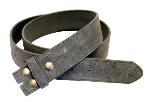 "Belts.com BS66 Genuine Leather Suede Belt Strap 1.5"" Gray 34"