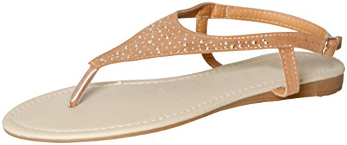 Lucky 21 Women's Perforated Strappy Ankle Strap Thong Sandals