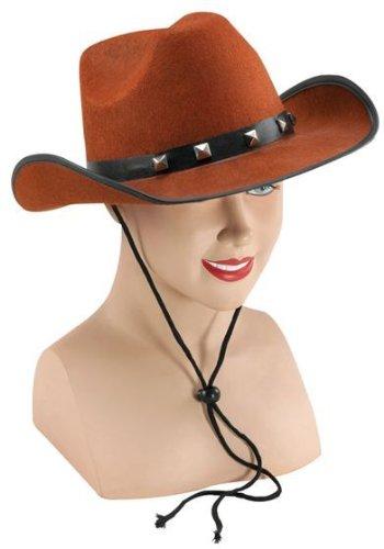 Brown Felt Cowboy Studded Hat