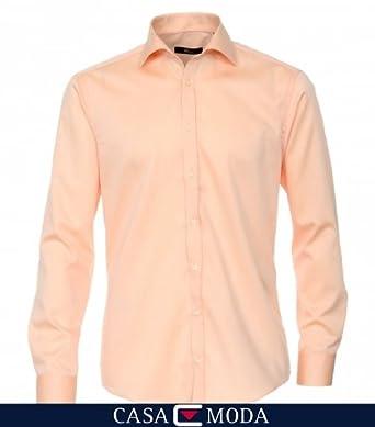 VENTI Hemd Tailliert Langarm Apricot Uni Twill Kent Kragen Normaler Office Arm 65er 38